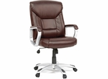 Sauder Deluxe Leather Brown Executive Chair