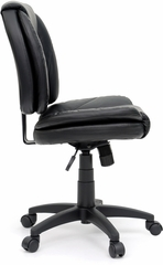 Sauder Duraplush Black Task Chair with Contoured Seat & Back