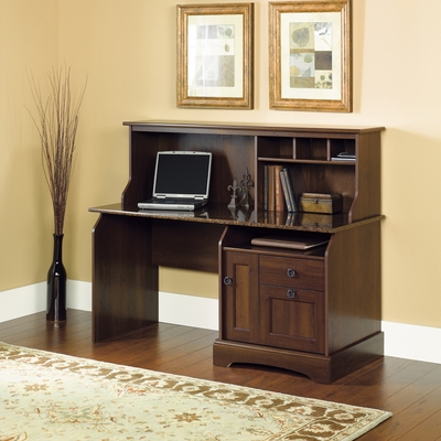 Sauder Graham Ridge Computer Desk With Hutch Euro Oak