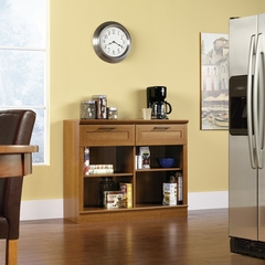 Sauder Homeplus 2 Drawer Console Sienna Oak