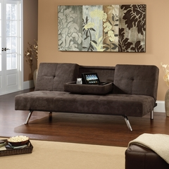 Sauder Hunter Chocolate Microfiber Convertible Sofa