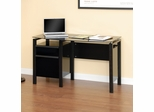 Sauder Lake Point Contoured Desk Black / Black