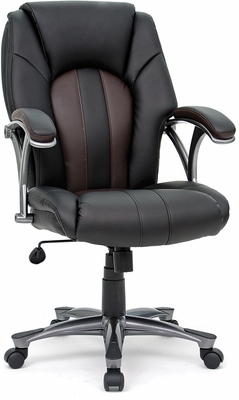 Sauder Mid Managers Chair Duraplush Black / Brown