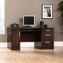 Sauder Office Port Computer Credenza Dark Alder