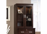 Sauder Office Port Glass Door Hutch For 408293 Dark Alder