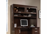 Sauder Office Port Hutch with Glass Doors For 408291 Dark Alder