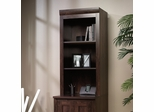Sauder Office Port Library Hutch for 408365 Dark Alder