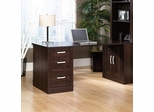 Sauder Office Port Library Reversible Return for 408365 Dark Alder