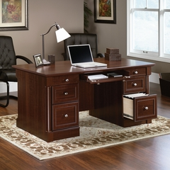 Sauder Palladia Executive Desk Select Cherry