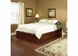 Sauder Palladia Queen Platform Bed with Storage Select Cherry