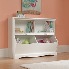 Sauder Pogo Kids Bookcase / Footboard Soft White