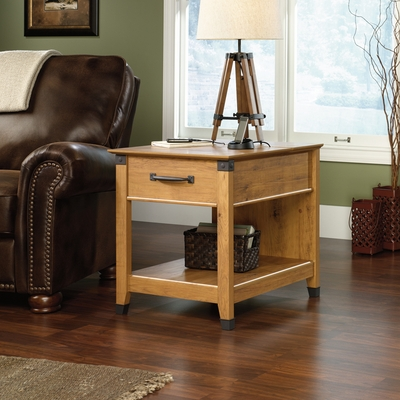 Sauder Registry Row Smartcenter Side Table Amber Pine