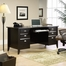 Sauder Shoal Creek Executive Desk Jamocha Wood