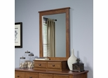 Sauder Shoal Creek Mirror for Dresser 410287 Oiled Oak