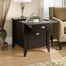 Sauder Shoal Creek Smartcenter Side Table Jamocha Wood