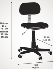 Sauder Studio Select Black Fabric Task Chair