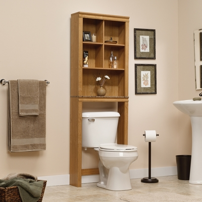 Sauder Sundial Space Saver Bathroom Etagere Highland Oak