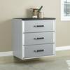 Sauder Tuff Duty 3-Drawer Base Cabinet Polished Silver - Sauder Furniture - 409260
