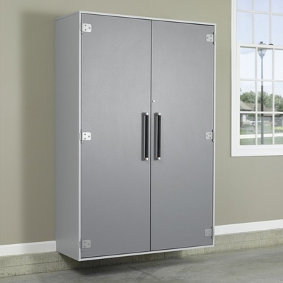 Sauder Tuff Duty Jumbo Storage Cabinet Polished Silver - Sauder Furniture - 409264