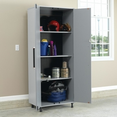 Sauder Tuff Duty Storage Cabinet Polished Silver - Sauder Furniture - 409263