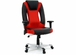 Sauder Xvibe Enter Chair Duraplush Black / Red