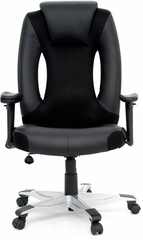 Sauder Xvibe Entertainment Chair Duraplush Black