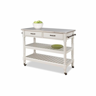 Savannah Kitchen Cart in White - Home Styles - HS-5219-95