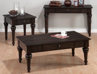 Savannah Oak 3PC Traditional Accent Table Set - 256-1
