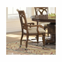 Savannah Old Oak Castered Arm Chair - Set of 2 - Largo - LARGO-ST-D177-45