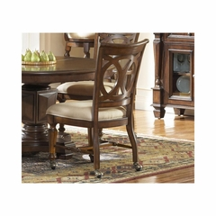 Savannah Old Oak Castered Side Chair - Set of 2 - Largo - LARGO-ST-D177-47