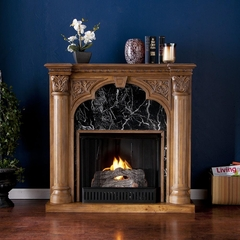Savino Old World Oak Gel Fireplace - Holly and Martin