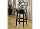 "Savvy 4015 30"" Swivel Barstool in White Floral Fabric / Ebony - Armen Living - LCSASWBAFL30"