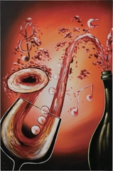 Saxophone Splash Oil Painting - 960589