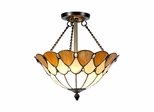 Scalloped Jeweled Flush Mount - Dale Tiffany