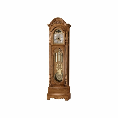 Schultz Grandfather Clock IN Golden Oak - Howard Miller