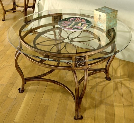 Scottsdale Cocktail Table with Glass Top - Hillsdale Furniture - 40386OTC