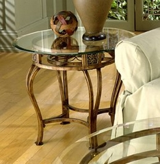 Scottsdale End Table with Glass Top - Hillsdale Furniture - 40384OTE