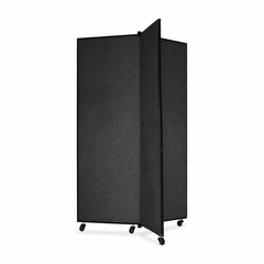 Screenflex 3 Panel Mobile Display Tower in Black - SCXCDS603SX