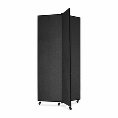 Screenflex 3 Panel Mobile Display Tower in Black - SCXCDS683SX