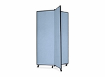 Screenflex 3 Panel Mobile Display Tower in Blue - SCXCDS603CB