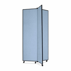 Screenflex 3 Panel Mobile Display Tower in Blue - SCXCDS683CB