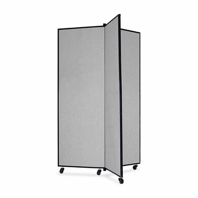 Screenflex 3 Panel Mobile Display Tower in Gray - SCXCDS603CG