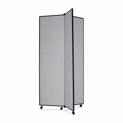 Screenflex 3 Panel Mobile Display Tower in Gray - SCXCDS683CG