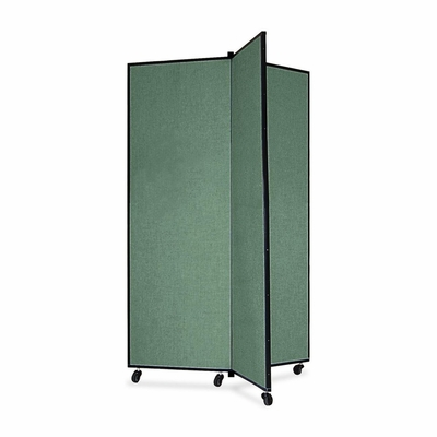 Screenflex 3 Panel Mobile Display Tower in Green - SCXCDS603CN