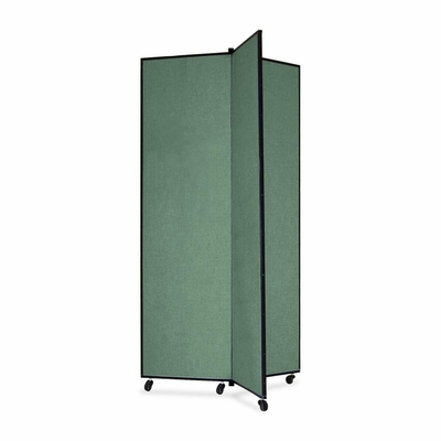 Screenflex 3 Panel Mobile Display Tower in Green - SCXCDS683CN