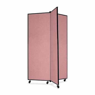 Screenflex 3 Panel Mobile Display Tower in Mauve - SCXCDS603CM