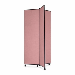 Screenflex 3 Panel Mobile Display Tower in Mauve - SCXCDS683CM