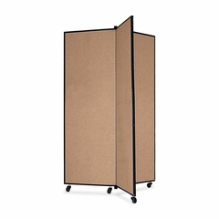 Screenflex 3 Panel Mobile Display Tower in Oatmeal - SCXCDS603CO