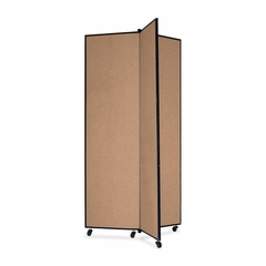 Screenflex 3 Panel Mobile Display Tower in Oatmeal - SCXCDS683CO
