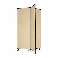 Screenflex 3 Panel Mobile Display Tower in Wheat - SCXCDS603CW